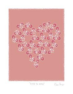 Love to bike by PeterHorjus on Etsy