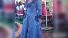 Seshweshwe Dresses, Lucy Dresses, African Fashion Dresses, African Dress, African Outfits, Sotho Traditional Dresses, I Dress, Wrap Dress, African Design