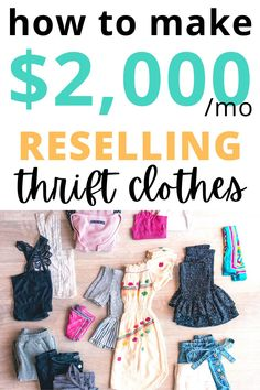 Selling Used Clothes, Best Clothing Brands, Thrift Clothes, Wholesale Boutique, Easy Crafts To Sell, Where To Sell, Making Extra Cash, Flatlay Styling, Make Money Fast