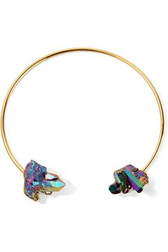 The Best 90s-Inspired Choker Necklaces to Shop Now | Dara Ettinger rose-plated quartz choker, $118; at The Outnet
