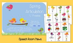 Spring Articulation Freebie - Pinned by @PediaStaff – Please Visit ht.ly/63sNtfor all our pediatric therapy pins