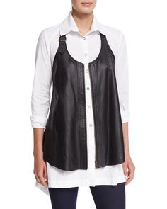 TAPPC XCVI Upstage Perforated Leather Vest, Women's