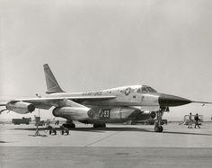 YB-58 at Edwards AFB with GE J93 engine pod