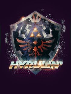 Legend of Zelda Hyrulin' Epic 80's Retro Poster  by barrettbiggers, $10.00