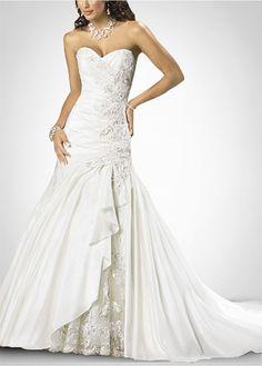 $149.36 Beautiful Exquisite Elegant  Thick Taffeta A-line Wedding Dress In Great Handwork