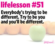 Little Life Lesson 51: Be You