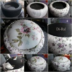DIY Recycled Tire Cushion DIY Recycled Tire Cushion