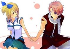 Cute NaLu! (Natsu's hair is much neater than usual, lol.)