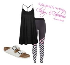 """""""Classy!"""" by purpleclover-1 ❤ liked on Polyvore featuring Birkenstock, Ultracor and Topshop"""
