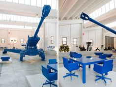 atelier van lieshout for lensvelt - world war III furnication  - BLUE!