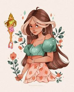 Cartoon Girl Drawing, Girl Cartoon, Cartoon Art, Cool Art Drawings, Art Drawings Sketches, Pretty Art, Cute Art, Arte Fashion, Les Winx
