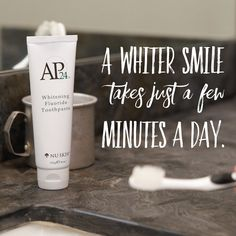 The best whitening Ive ever tried no peroxides fluoride dentists approve of it. Who doesnt want whiter teeth ? Ap 24 Whitening Toothpaste, Whitening Fluoride Toothpaste, Teeth Whitening Remedies, Natural Teeth Whitening, Stained Teeth, Teeth Bleaching, Elle Magazine, Dental Health, Nu Skin