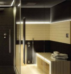 Infrared sauna - Utilizes infrared heaters to emit infrared radiant heat, which is absorbed directly into the human body. Infrared saunas penetrate more deeply than traditional saunas.: