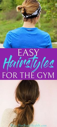 Finding easy hairstyles that will look good and keep your hair out of your face while you work out are important! Try one of these easy hairstyles for an active lifestyle! Easy Hairstyles for the Gym Active Hairstyles, Workout Hairstyles, Easy Hairstyles, Nutrition World, Health And Beauty Tips, Wellness Tips, Easy Workouts, Hair Looks, Dame
