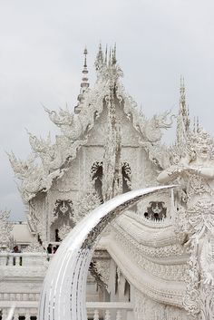 The white temple or Wat Rong Khun in Chang Rai, Thailand