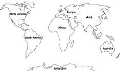 7 Continents Coloring Pages Blank World Map, World Map Puzzle, Kids World Map, World Map Template, Free Printable World Map, World Map Coloring Page, Poppy Coloring Page, Printable Coloring Pages, Coloring Pages For Kids
