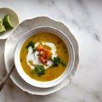 Easy Thai style red lentil soup via AmyChaplin.com