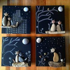 Cool DIY Idea: Painting out of River Pebbles – Best Handi Crafts Pebble Painting, Pebble Art, Stone Painting, Diy Painting, Painting Walls, Painting Canvas, Rock Painting, Kids Crafts, Diy And Crafts