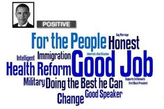 Presidential word associations - Positives for Barack Obama [INFOGRAPHIC] #Decision2012 @msnbc.com