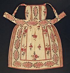 1820–29 cotton apron, American