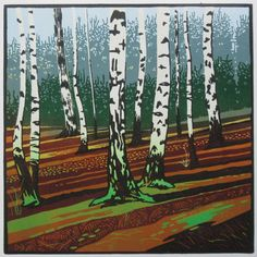 Autum forest by Gallerydb on Etsy