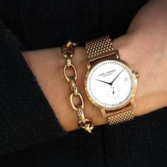 Classic gold watch #LW37 www.larsenwatches.com