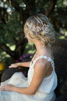 accessoires cheveux coiffure mariage chignon mariée bohème romantique retro, BIJOUX MARIAGE (33)