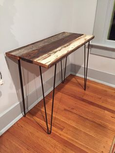 Console Table Made From Reclaimed Wood W/ White Hairpin Legs FREE SHIPPING    Reclaimed / Salvaged Barn Wood | Living Room Ideas | Pinterest | Hairpin  Legs, ...