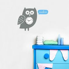 Upgrade your space with this owl vinyl wall clock sticker. Apply this removable wall clock decal (comes with a clock mechanism) to see the time in a decorative way. Simply peel and stick the vinyl wall graphics to get a stylish and decorative look.$54.95