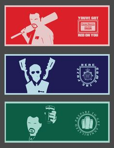 primercolour: Cornetto Trilogy - Design by Jack AllumAvailable to by as Posters, Phone Cases and T-Shirts (x)