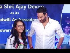 Ajay Devgan with his daughter Nysa at Smile Foundation campaign.