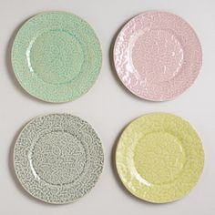 One of my favorite discoveries at WorldMarket.com: Lace Plates, Set of 4