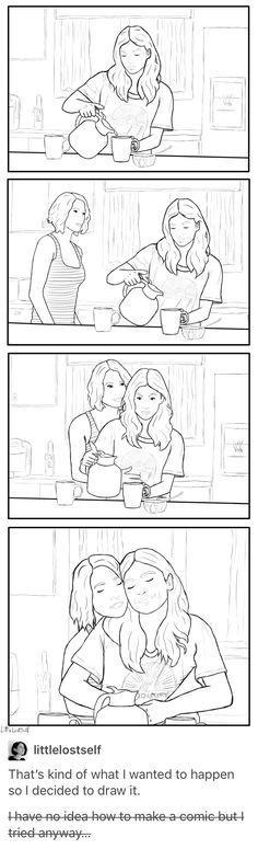 Sanvers comic - Alex Danvers - Maggie Sawyer - Supergirl - Fanart / art