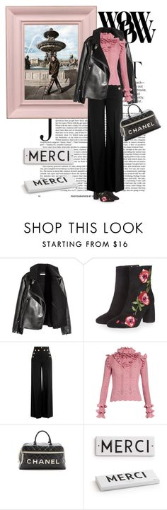 """""""Sightseeing"""" by seafreak83 ❤ liked on Polyvore featuring Behance, Topshop, RED Valentino, Gucci, WGACA, Rosanna, paris and Leather"""