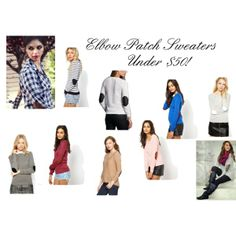 """""""Elbow Patch Sweaters Under $50"""" by Big Curls and Pearls blog"""
