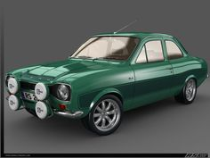 Ford escort - ours was British Racing green. Escort Mk1, Ford Escort, Ford Rs, Car Ford, 24 Hours Of Daytona, Automobile, Top Cars, Porsche 356, Rally Car