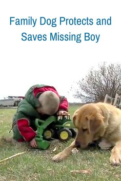Both boy and dog went missing one afternoon - check out what this dog did to keep his best friend safe!
