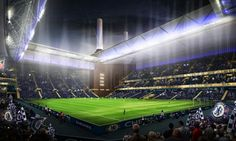 2012: Artistic impression for CHELSEA's supposed stadium in Battersea...