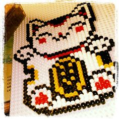 Maneki-neko hama beads by lougioh