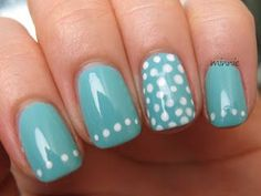 Polish or Perish: China Glaze: For Audrey, dotted #DIYNailDesigns