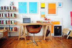 bureau moderne et coloré - modern desk