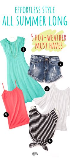 Our 5 Must Have Items for Summer