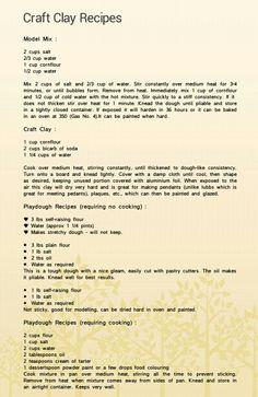 Craft Clay Recipes