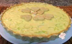 Cozinhando sem Glúten: Quiche de alho-poró sem glutem (farinha de arroz, ovo, creme de leite, leite)