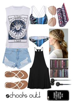 School's out! by oswinoswald-ashtoniall on Polyvore featuring polyvore fashion style RVCA WithChic Billabong Casetify H&M Original Penguin Tory Burch clothing