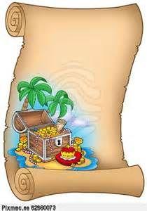 Clip art: Parchment with treasure on island Treasure Chest Craft, Pirate Treasure Maps, Pirate Birthday, Pirate Theme, Pirate Clip Art, Pirate Cartoon, Pirate Invitations, Boarder Designs, Island Theme