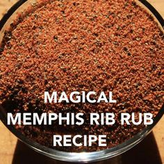 Try this recipe for Memphis style rib rub and enjoy the best tasting pork ribs around! And it isn't just for ribs – it's fantastic when used with smoked pork shoulders, and adds just the right amount of flavor to pork loins and chops. Dry Rub Recipes, Smoked Meat Recipes, Salt Free Recipes, Milk Recipes, Homemade Spices, Homemade Seasonings, Homemade Dry Mixes, Meat Rubs, Pork Dry Rubs