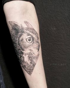 owl tattoo design by @vitaly_roy