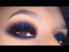 Image result for dark blue glitter eyeshadow