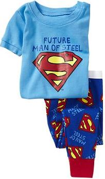 """Tiny Super Hero Baby and Toddler Gifts:   DC Comics """"Future Man of Steel"""" Pajamas @ Old Navy"""